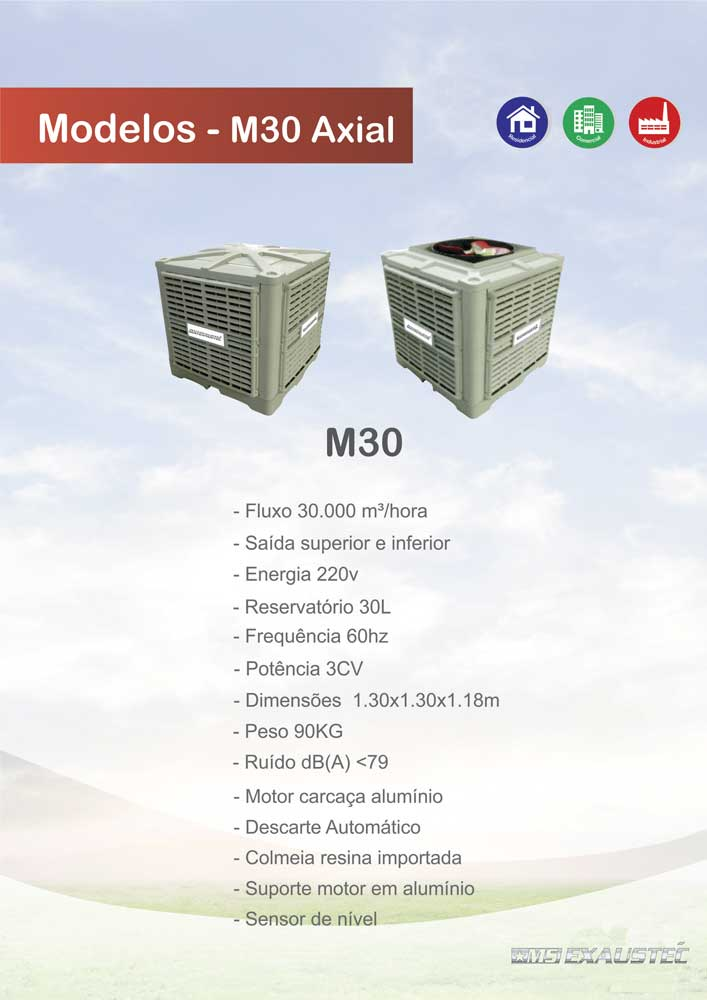 Climatizador Evaporativo - MS Exaustec